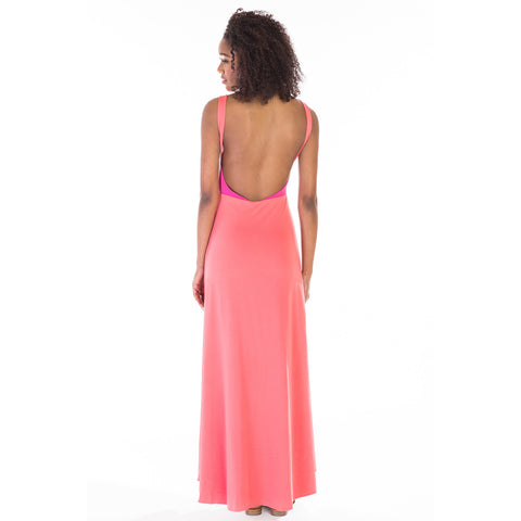 alma dress pink back