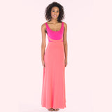 alma dress pink front