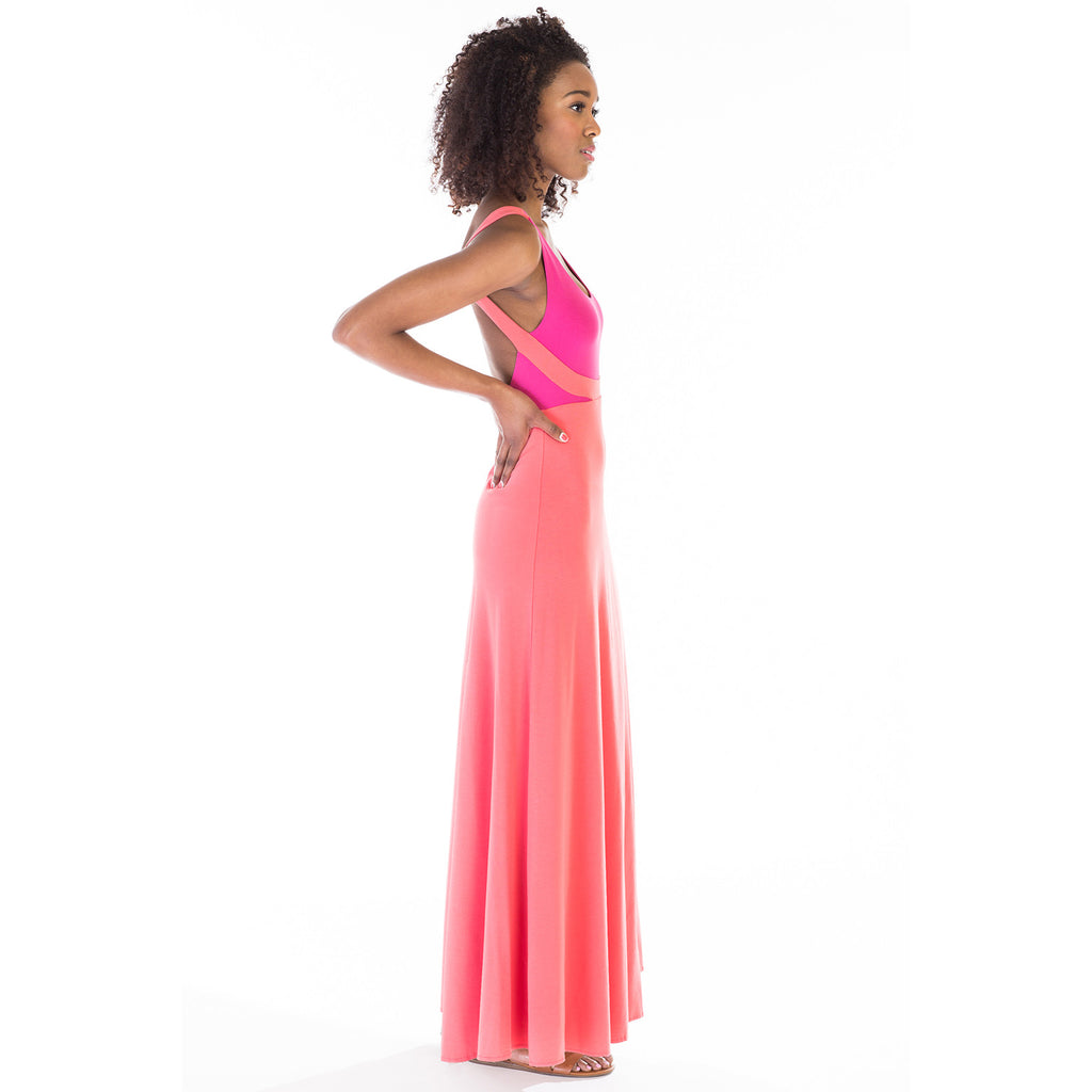 alma dress pink side