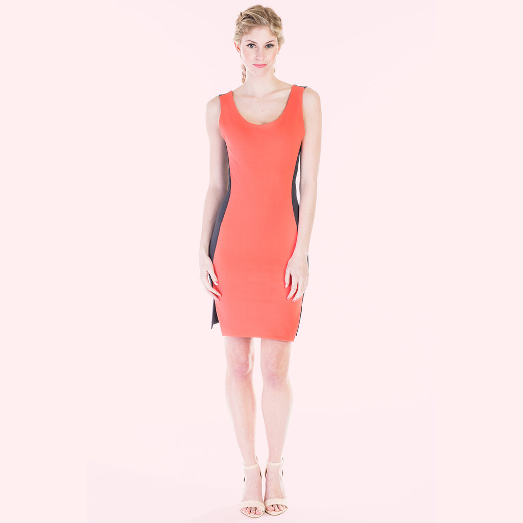 camille dress pink front
