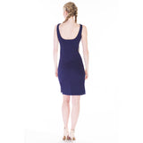 claribel dress blue back
