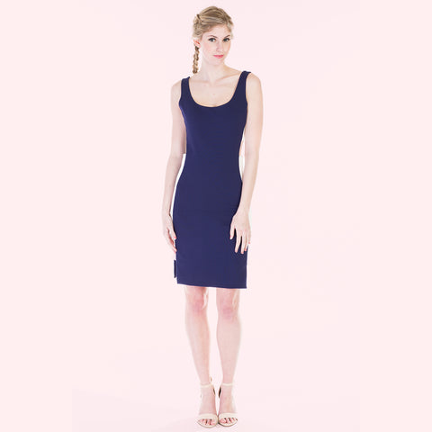 claribel dress navy front