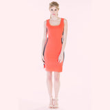 claribel dress pink front