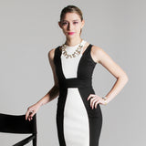 Cleo dress black/white