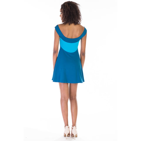 gala dress blue back