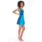 gala dress blue side