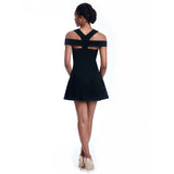 lettie black dress back