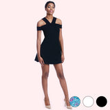 lettie black dress front