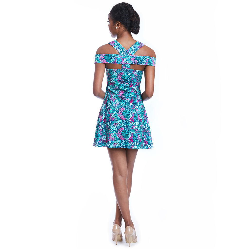 lettie print dress back