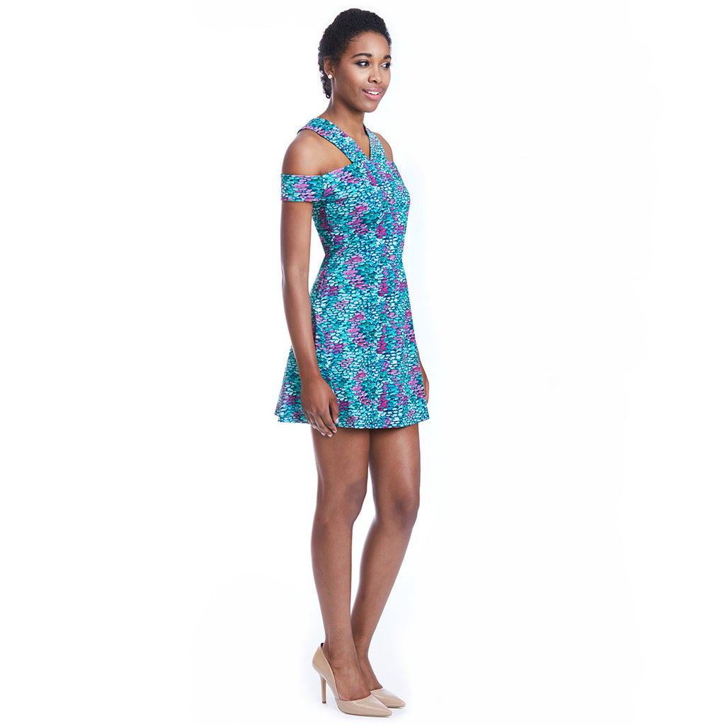 lettie print dress side