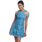 lettie print dress front detail