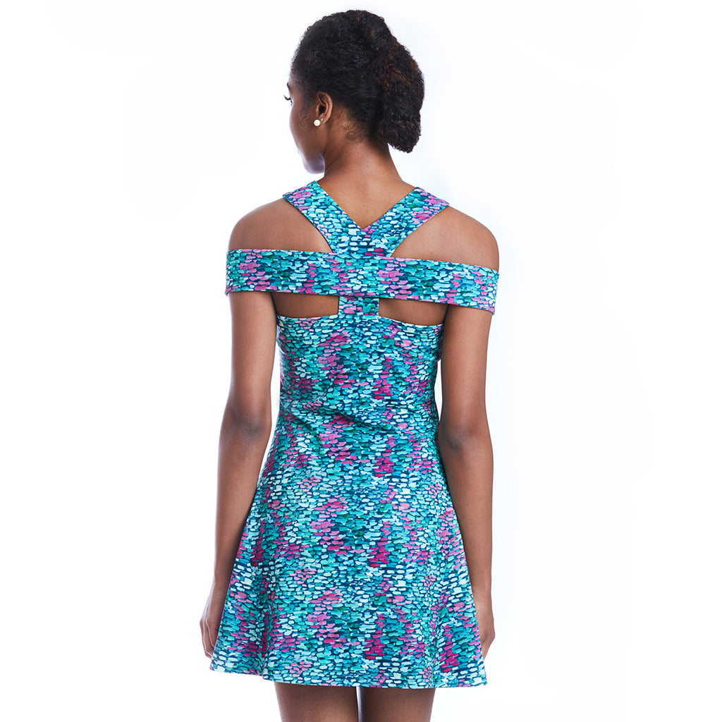 lettie print dress back detail