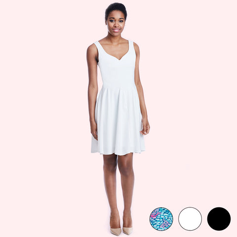 madeleine dress white front