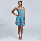madeleine dress print hand on hip