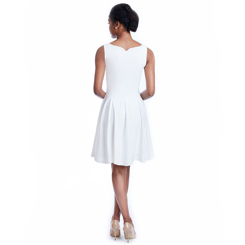madeleine dress white back