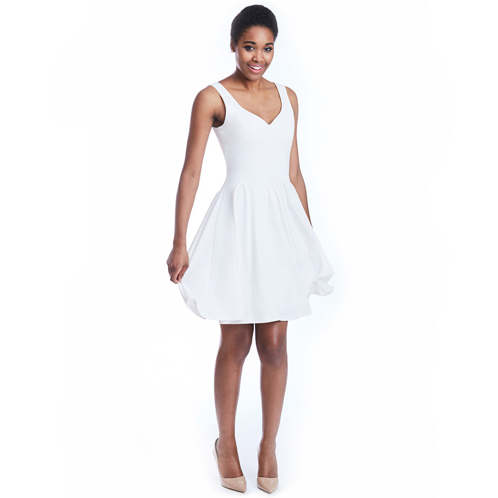 madeleine dress white spin