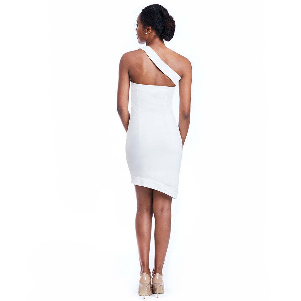 marie dress white back