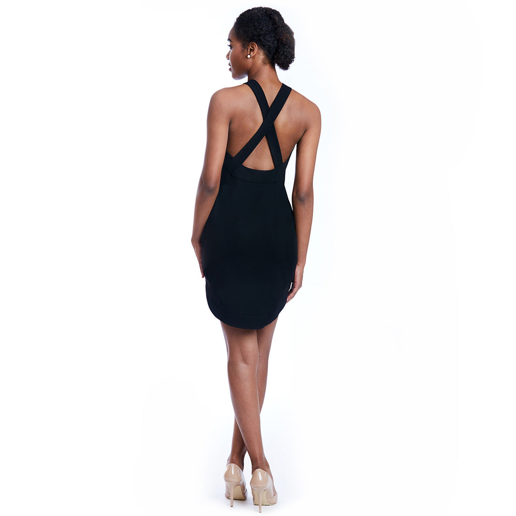 mia dress black back
