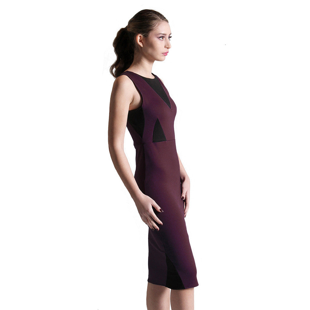 Penelope dress merlot/black