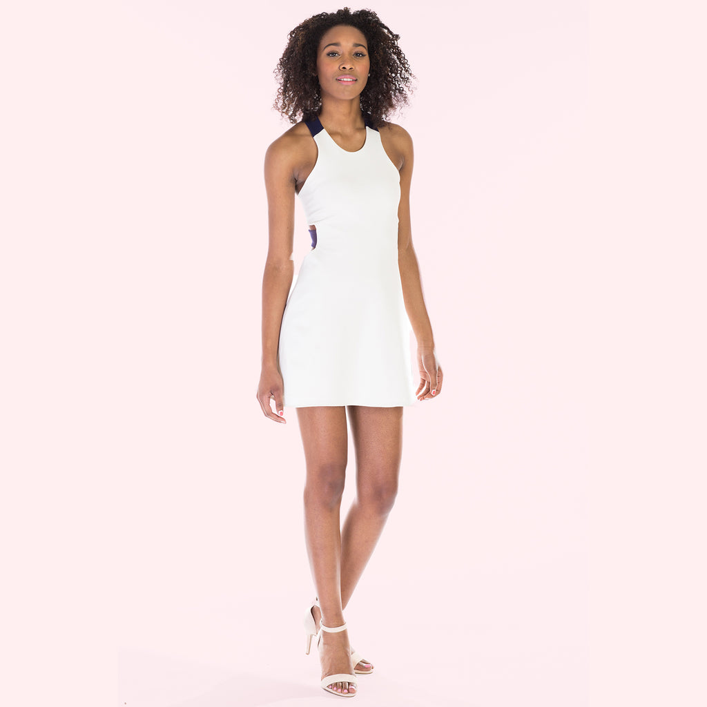 victorine dress white front