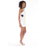 victorine dress white side
