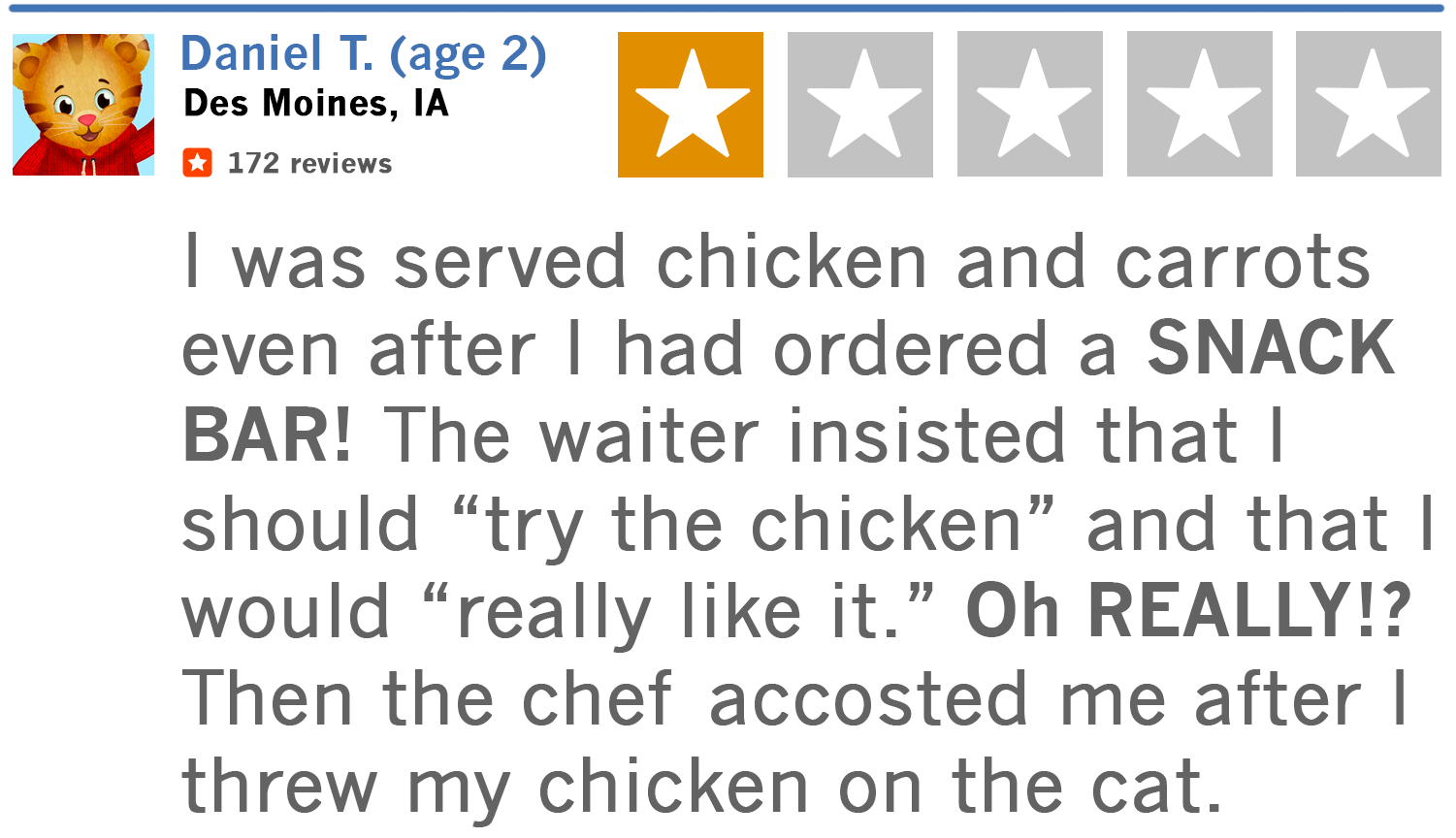 If My 3 Little Kids Reviewed Family Dinners Raygun