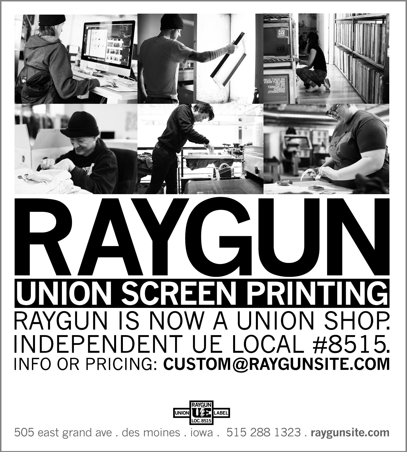 Raygun union labor