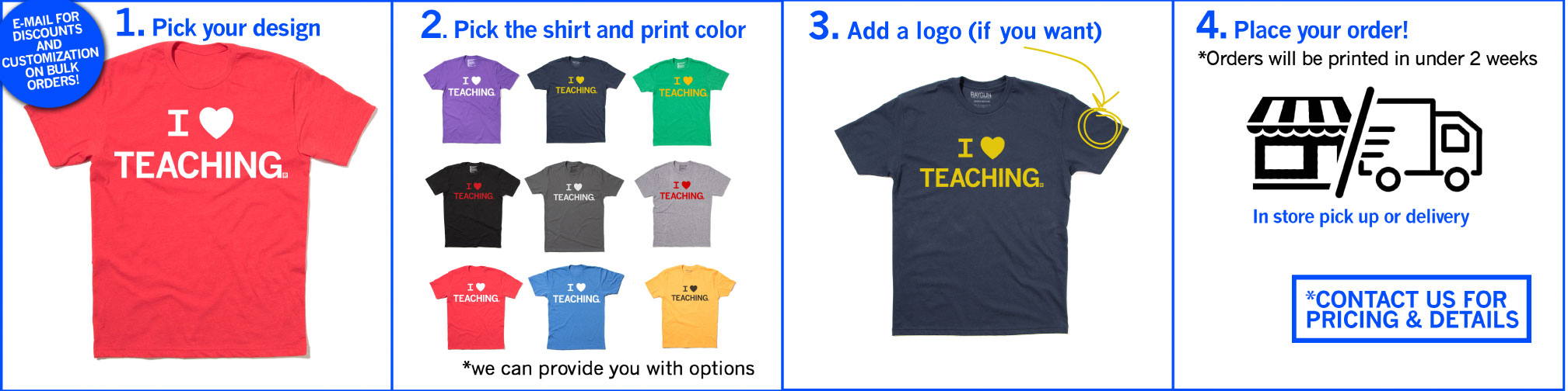 how to order custom teacher t-shirts
