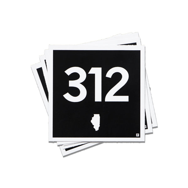 312 Logo Mini Sticker