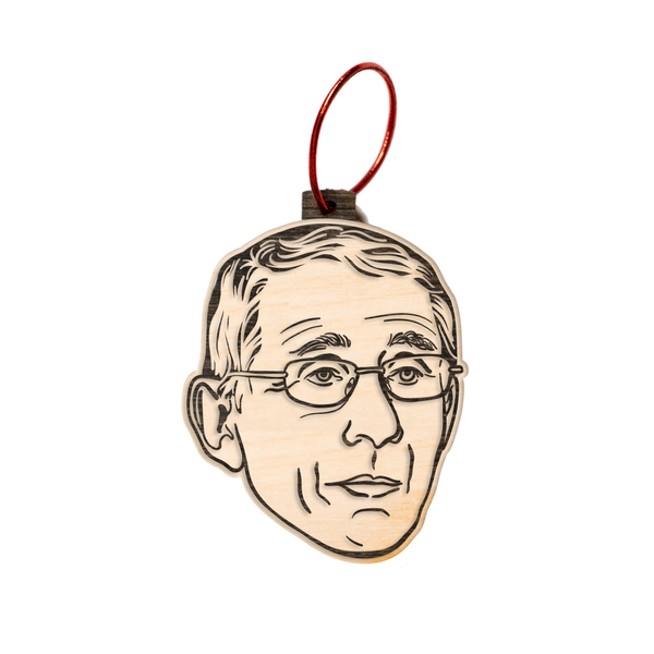 Dr. Anthony Fauci Wood Ornament