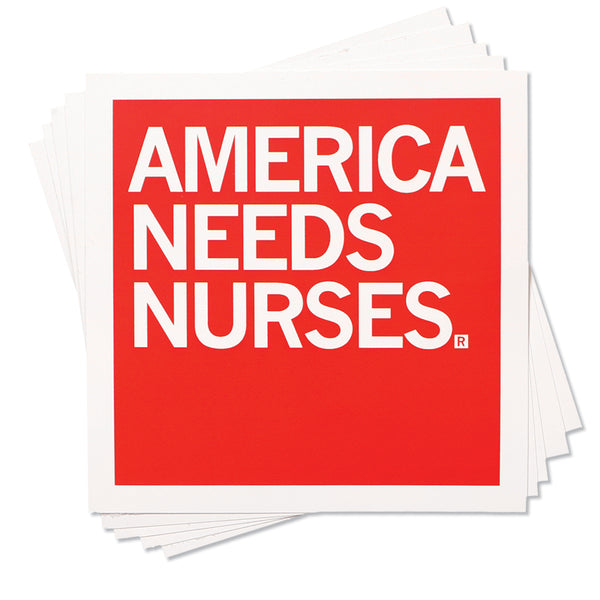 America Needs Nurses Sticker