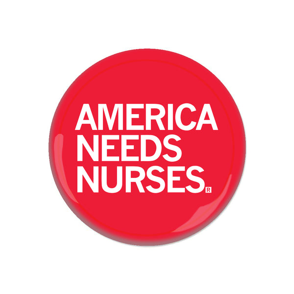 America Needs Nurses Button Medical Vaccine Doctor