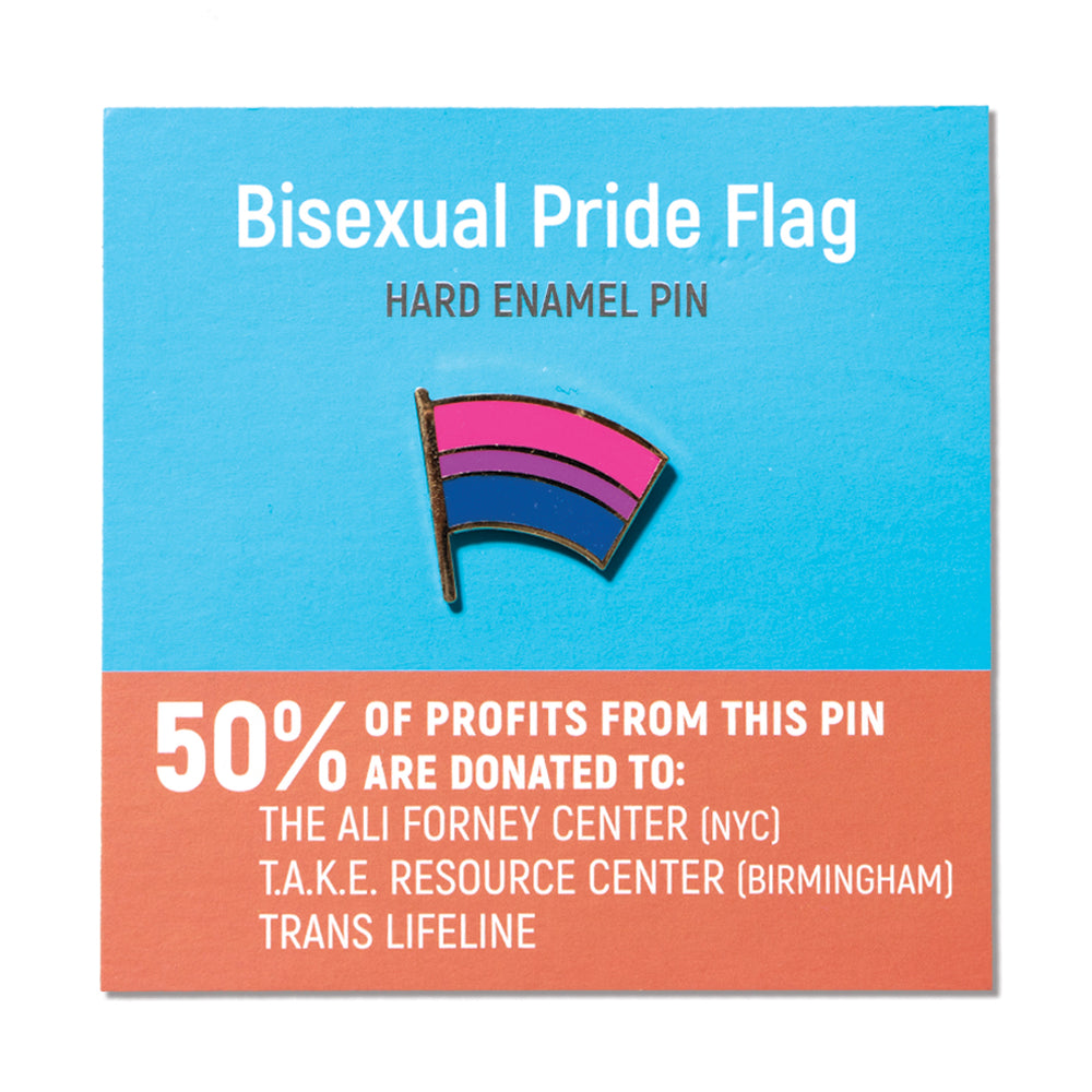 Dissent Pins: Bisexual Pride Flag Pin