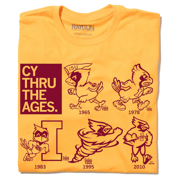 Iowa State Cy Logo Evolution T-Shirt