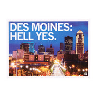 Des Moines: Hell Yes Postcard