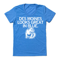 Des Moines Looks Great In Blue Drake Bulldog Shirt
