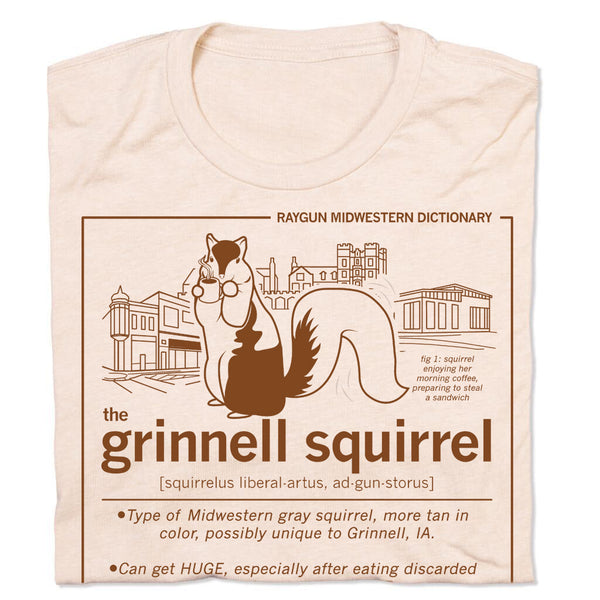 Grinnell Squirrel Definition Midwest Animal Standard Unisex T-Shirt