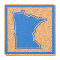 Minnesota Outline Cork Coaster