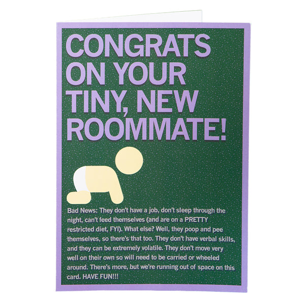 Tiny New Roommate Greeting Card