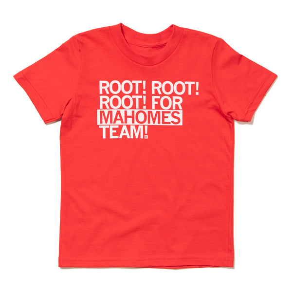 Root For Mahomes Team Kids T-Shirt