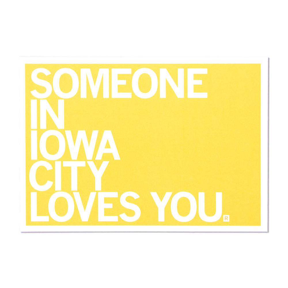 Someone Loves You IC Postcard