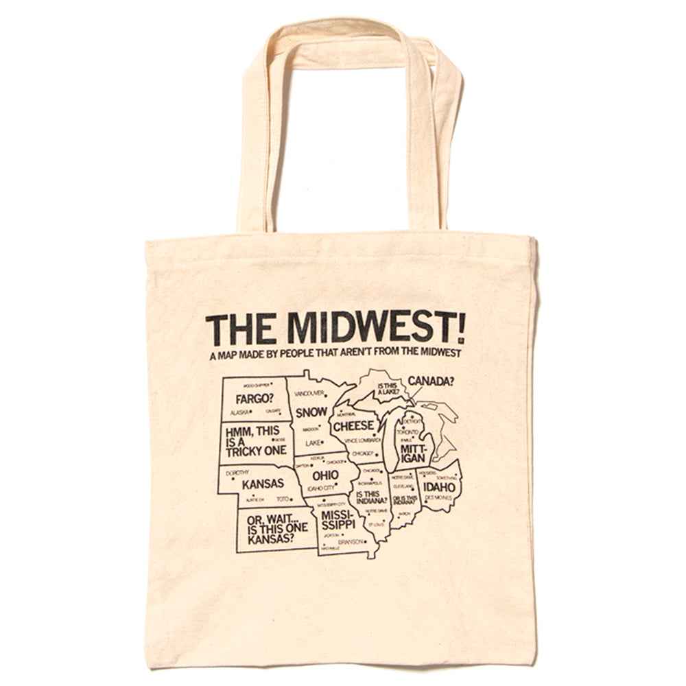 Midwest Map Tote Bag