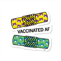 Vaccinated AF Cat Band Aid Sticker