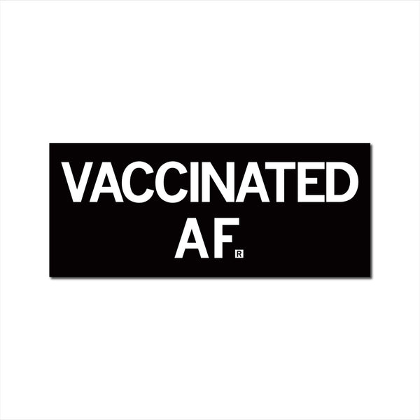 Vaccinated AF Text Sticker