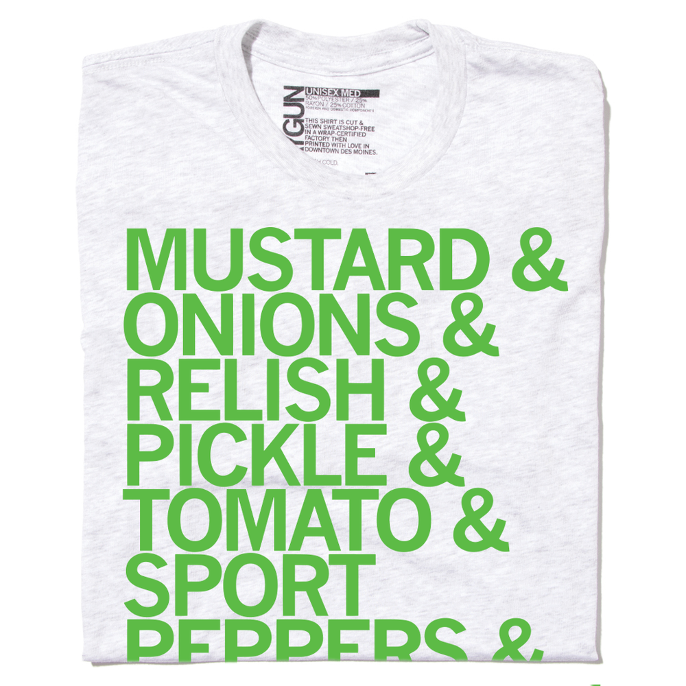 Chicago-Style Hotdog Ingredients T-Shirt