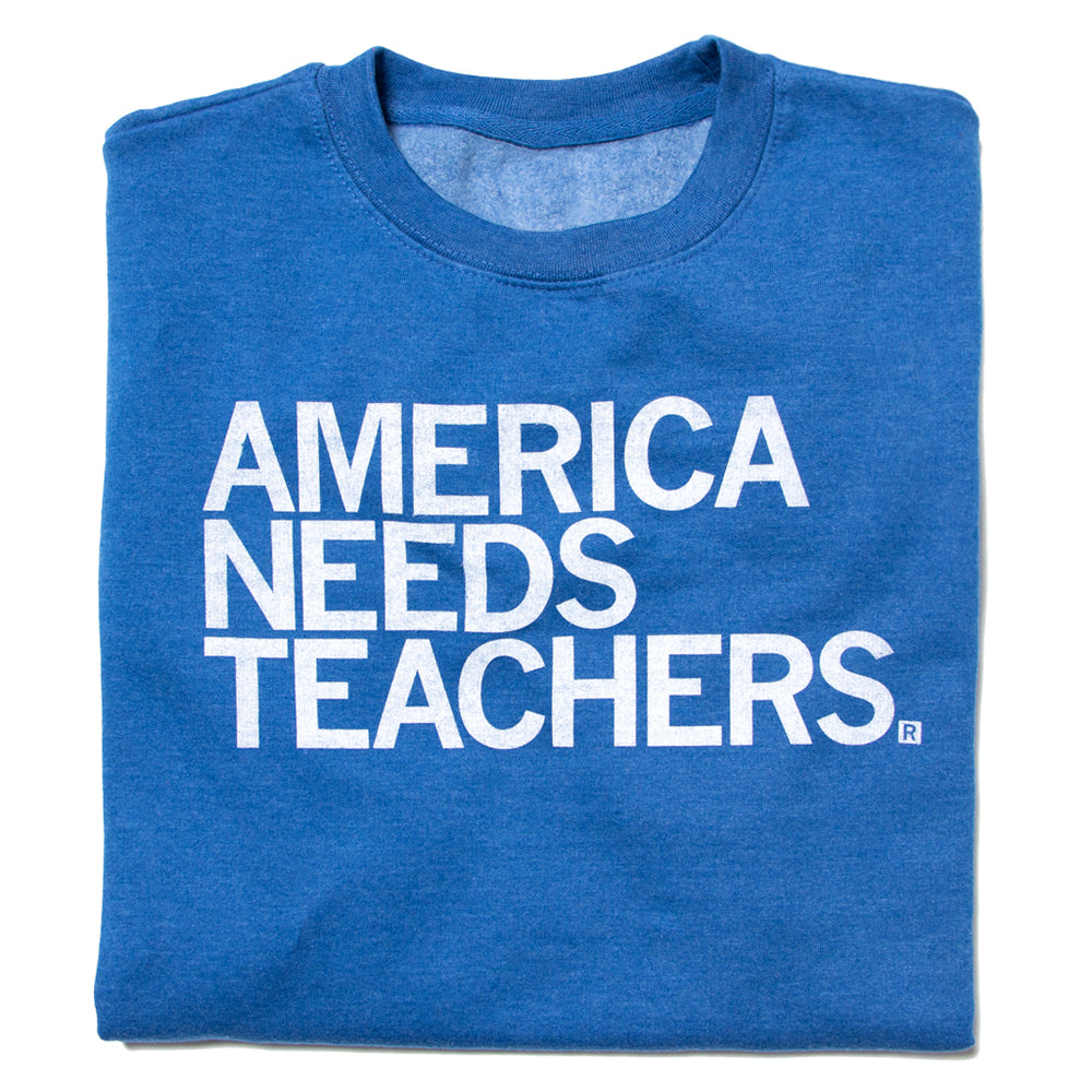 America Needs Teachers Text Crew Sweatshirt