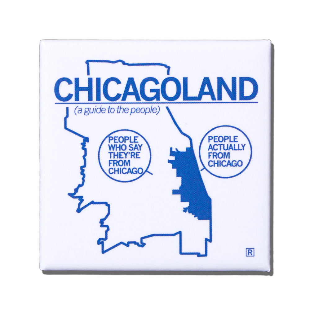 Chicagoland Metal Magnet