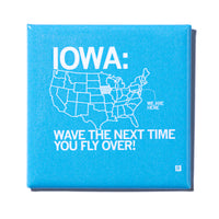 Iowa Fly Over Metal Magnet