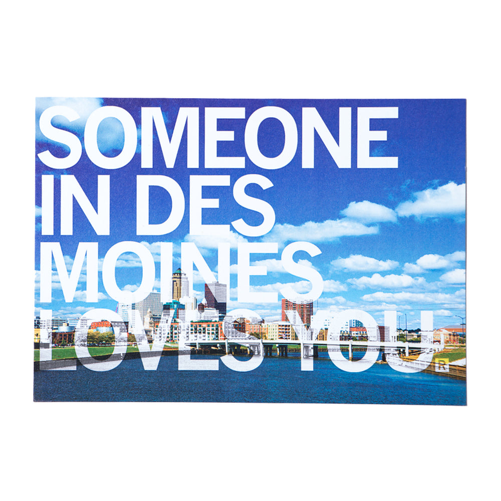 Someone In Des Moines Loves You Photo Postcard