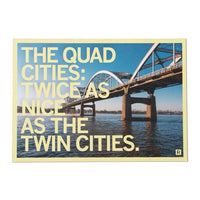 Quad Cities Twice As Nice Postcard